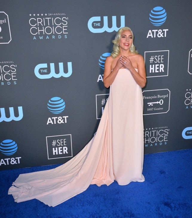 SANTA MONICA, CA. January 13, 2019: Lady Gaga at the 24th Annual Critics' Choice Awards in Santa Monica.