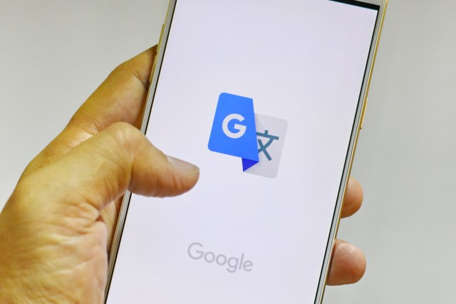 The Google Translate app starting on a phone