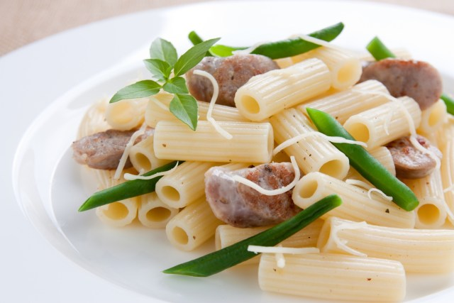 Pasta With Sausage, Greens, And Beans