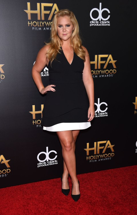 Amy Schumer arrives to the Hollywood Film Awards 2015
