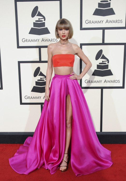 Taylor Swift at he 58th GRAMMY Awards