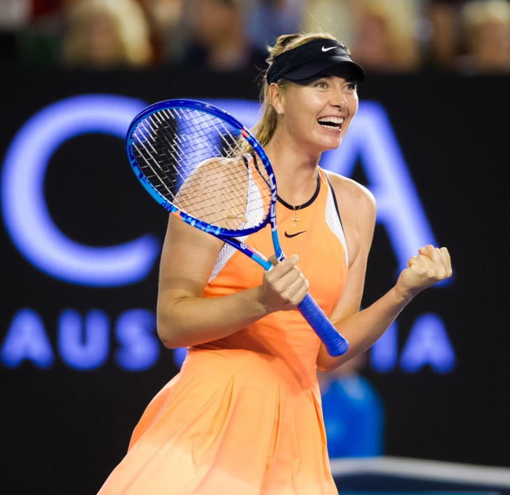 Maria Sharapova in action at the 2016 Australian Open
