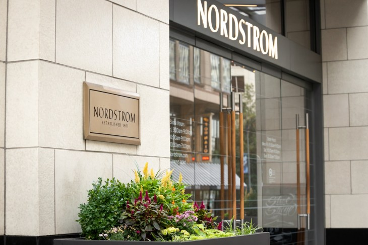 Outside of Nordstrom Department Store