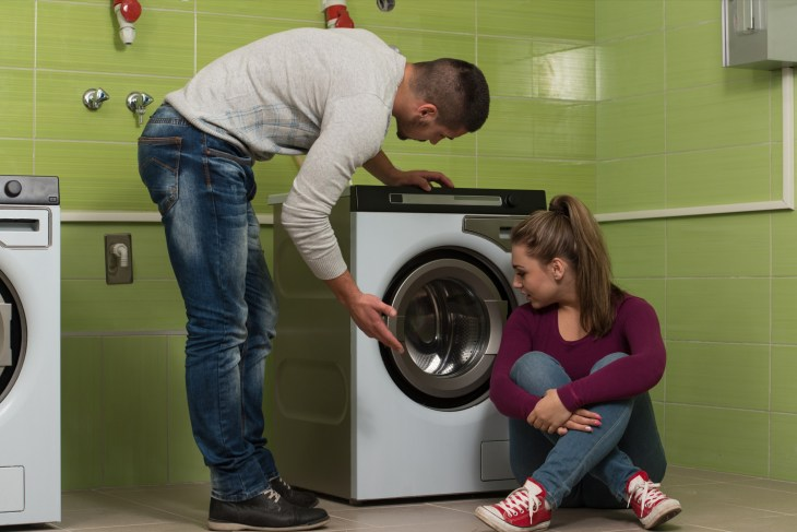 Two Students in a Laundry Room