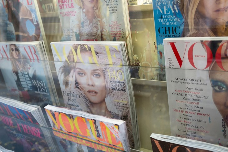Newsstand Full Of Vogue Magazine Issues