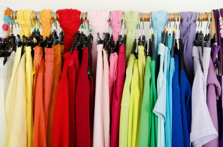 Colorful Spring Clothing On Hanger