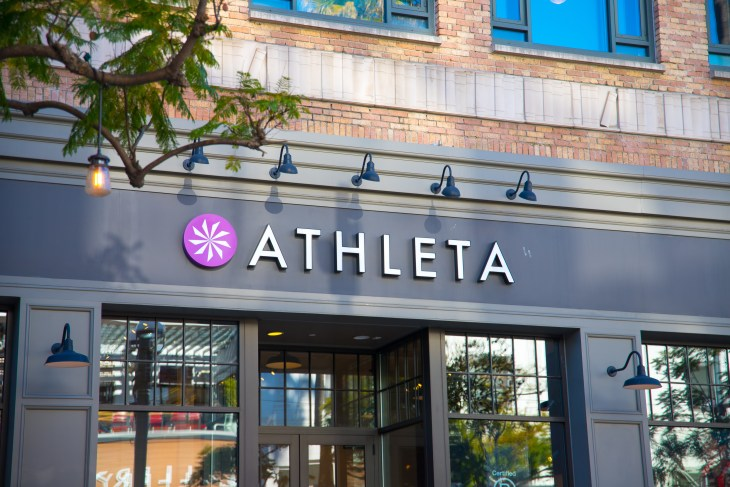 The front of the Athleta store.