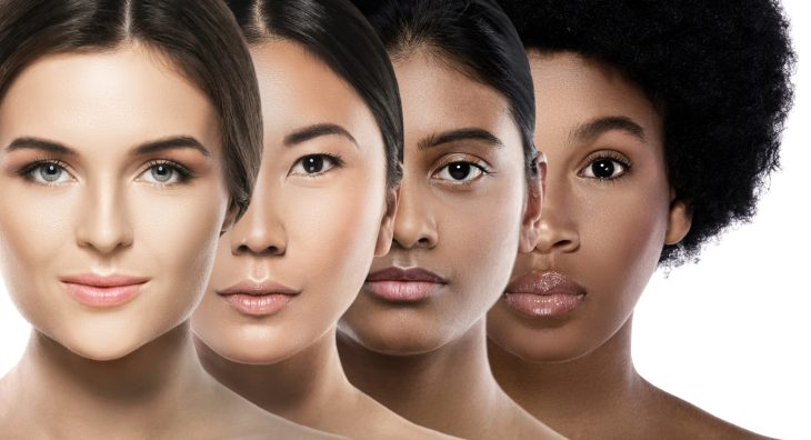 Multi-ethnic beauty. Different ethnicity women - Caucasian, Asian, Indian. and African