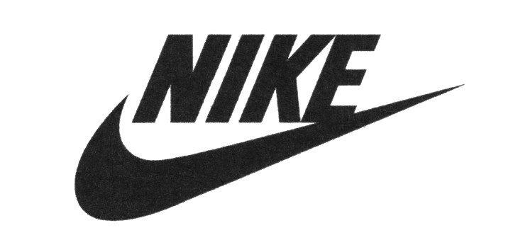 Nike logo printed on paper. Nike, Inc. is an American multinational corporation that is engaged sales of footwear, apparel, equipment, accessories and services.
