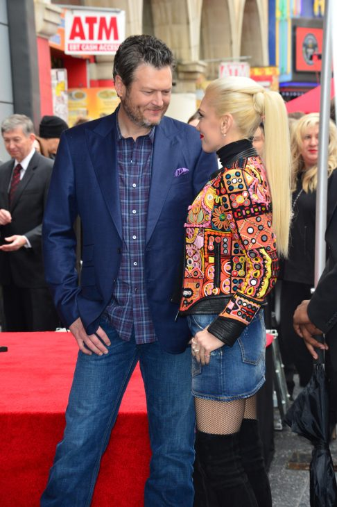 Gwen Stefani & Blake Shelton gazing into each other's eyes an event in 2017.