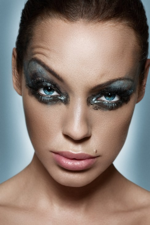 Woman With Heavy Makeup