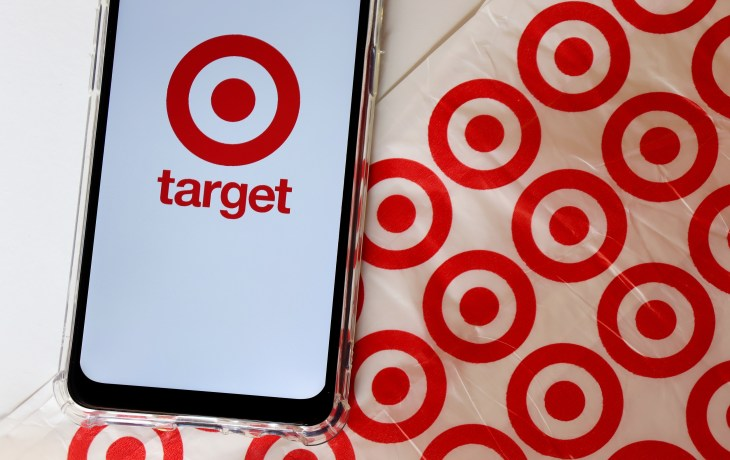 Phone with a Target logo on the screen