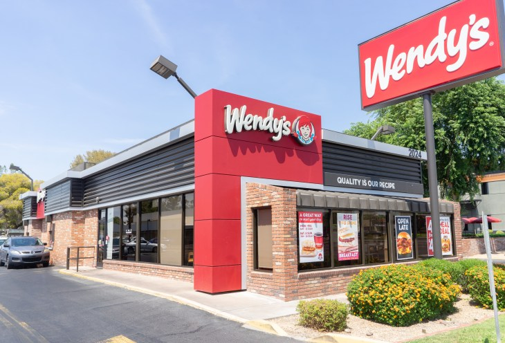 Outside shot of Wendy's
