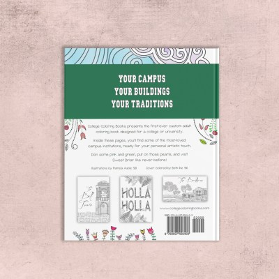 College Coloring Books Sweet Briar College Coloring Book Cover - Back