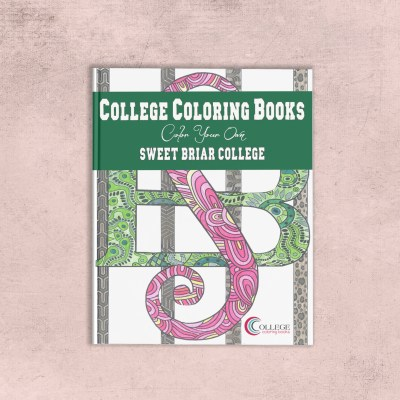 College Coloring Books Sweet Briar College Coloring Book Cover - Front