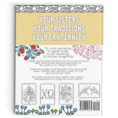 College Coloring Books Chi Omega Back Book Cover