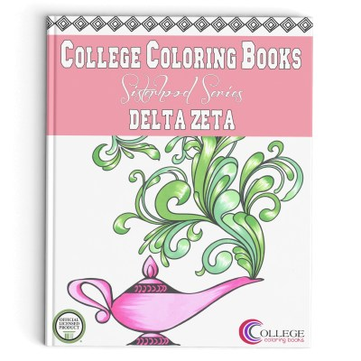 College Coloring Books Delta Zeta Book Cover