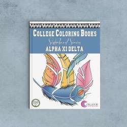 College Coloring Books Alpha Xi Delta Coloring Book Cover - Front