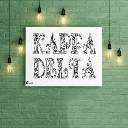 Kappa Delta Tangled Name Coloring Poster
