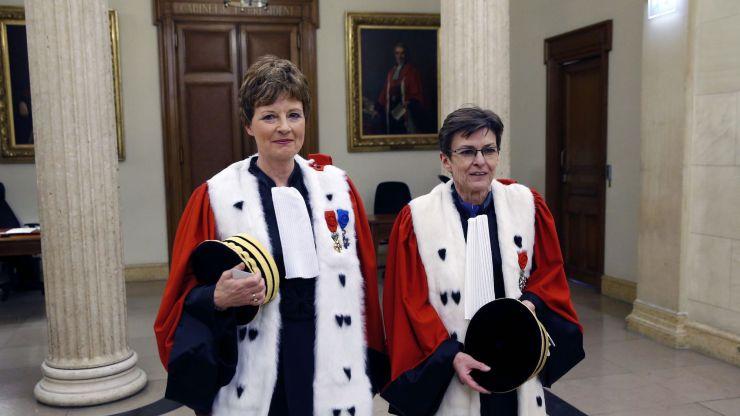 Catherine Champrenault aux côtés de Chantal Arens en 2017.