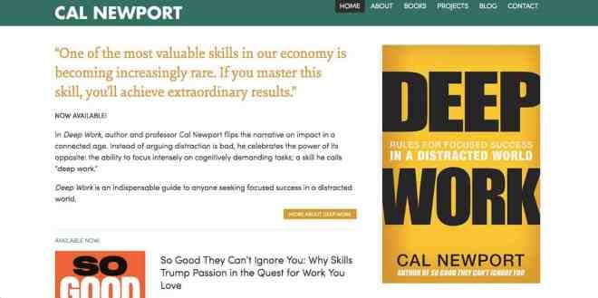 Cal Newport Website