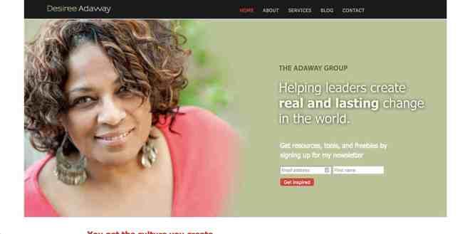 Desiree Adaway Website