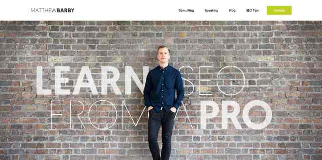 Matthew Barby Website