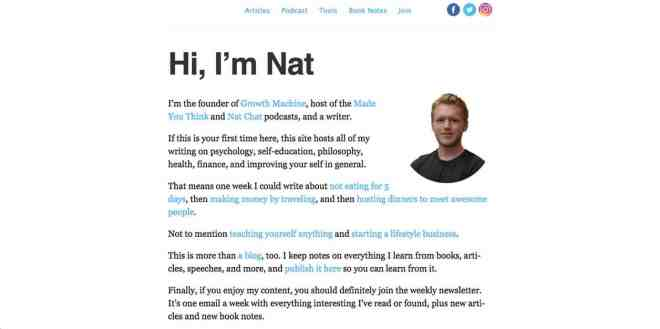 Nat Eliason Website