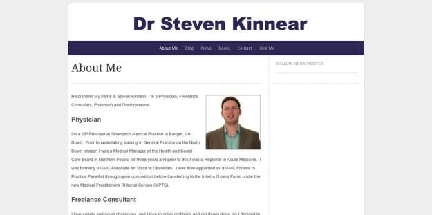 Dr. Steven Kinnear Website