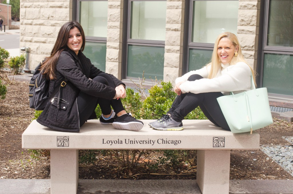 Rachel Winston and Michelle Tahan at Loyola University Chicago