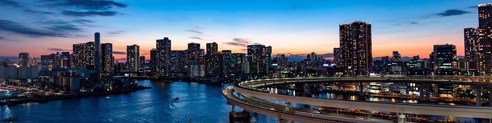 Tokyo bridge sunset
