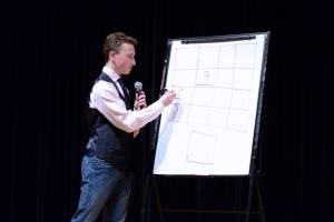 Ethan performing his legendary magic square