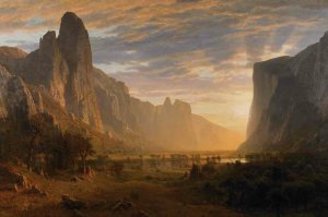 Looking Down Yosemite by Albert Bierstadt