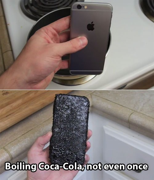 iPhone 6 boiled in Coca-Cola