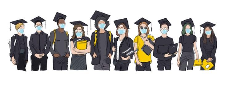 Masked graduates