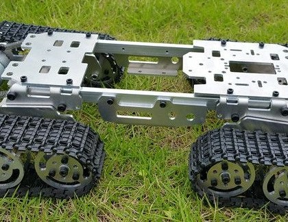 Tank chassis four wheel