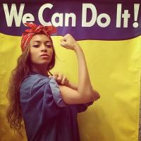 Fashion- Last min costumes- Rosie the Riveter