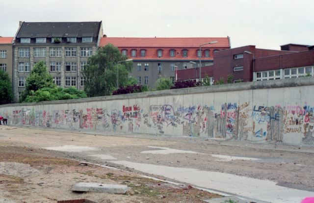 Berlin, shortly after the opening of the wall