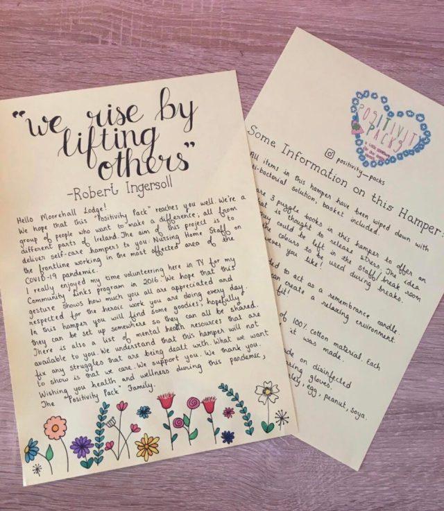 Positivity Packs Letters