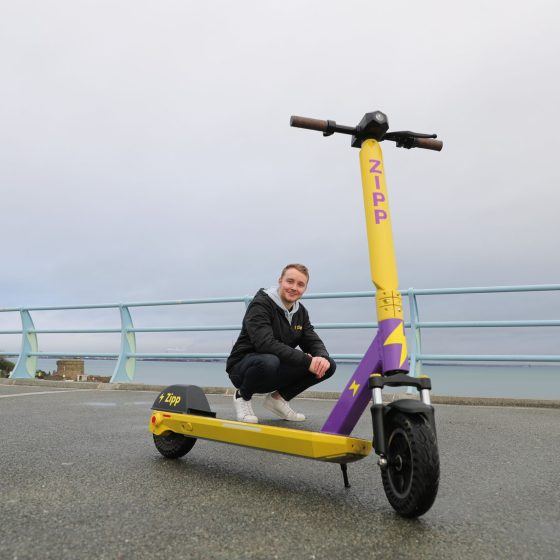Pictured is Charlie Gleeson, CEO and Founder, Zipp Mobility (Nick Bradshaw, Fotonic).