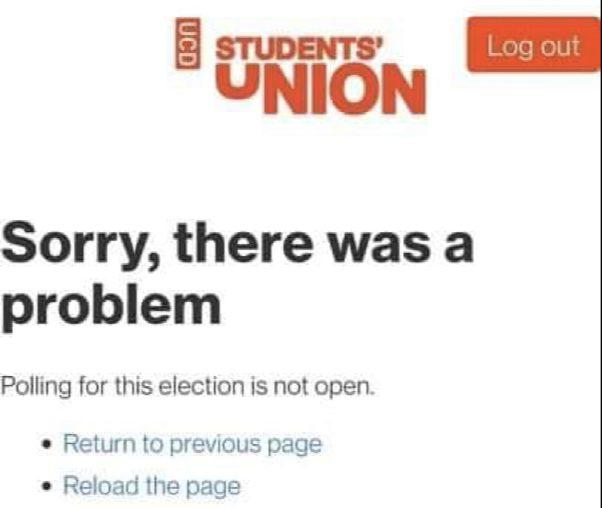 UCDSU Voting Glitch
