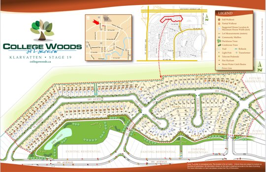 College Woods at Lakeview Phase 2 Lot Map