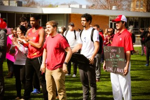 Students participate in the One Billion Rising Event