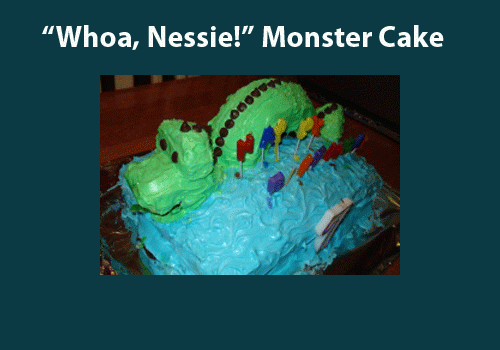 Easy Sea Monster Cake