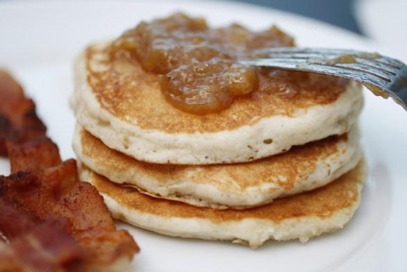 Drunken Monkey Jam Pancakes