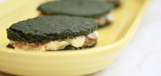 Green Velvet Ice Cream Sandwiches via CollegiateCook.com