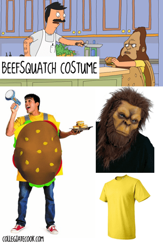 Bob's Burgers Beefsquatch Costume via Collegiatecook.com