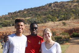 Tyler with friends from Ghana and South Africa