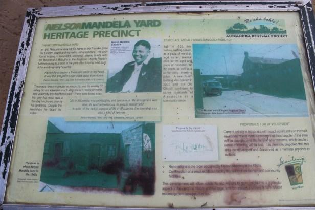 Outside of Mandela's old home.