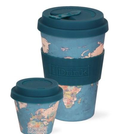 vaso reutilizable con tapa